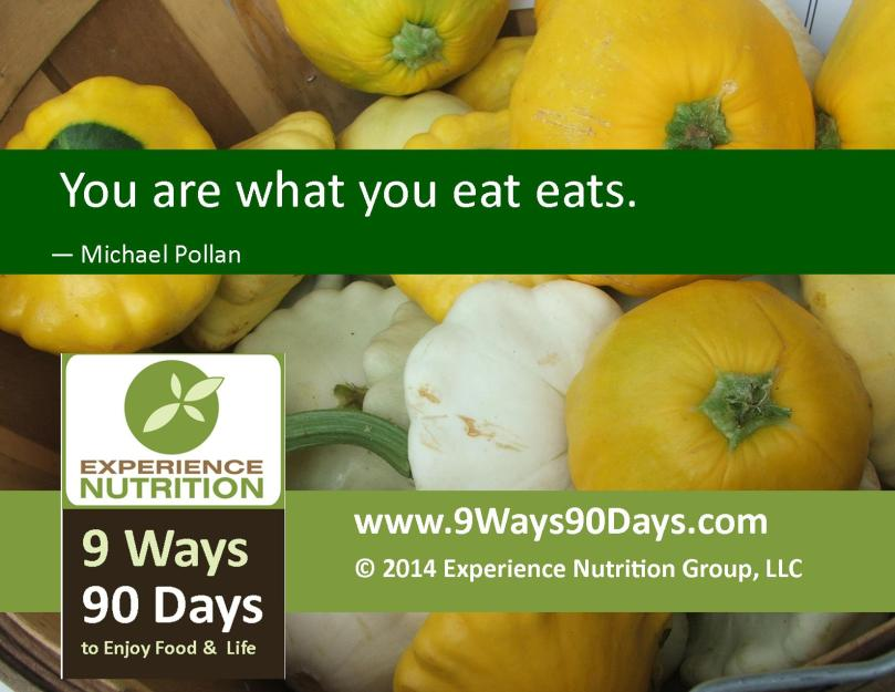 9 Ways 90 Days: Food Quotes