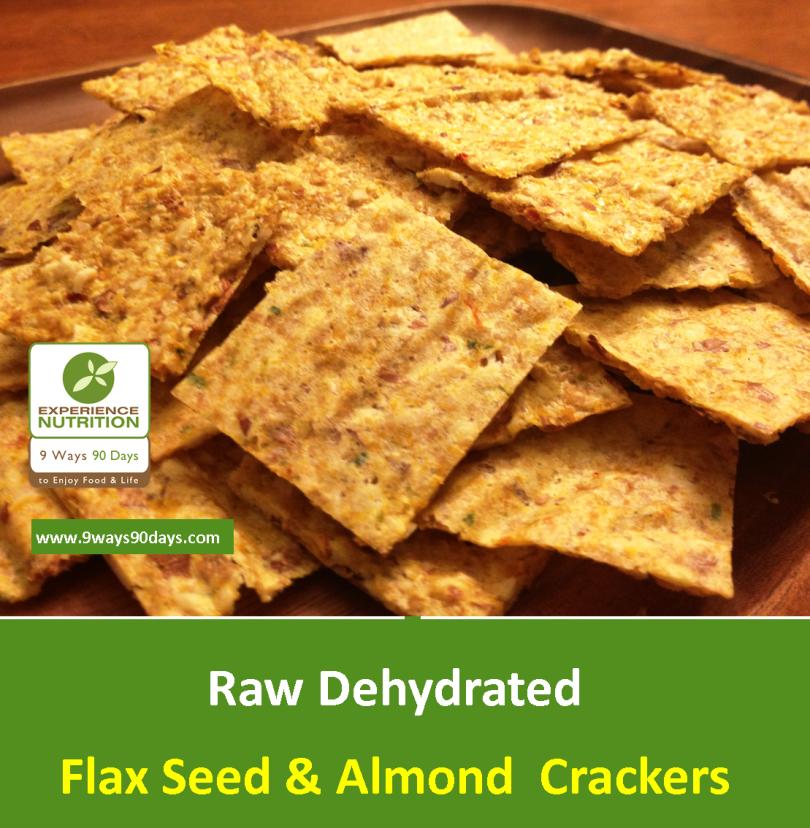 Raw Dehydrated Organic Flax Seed & Almond Crackers