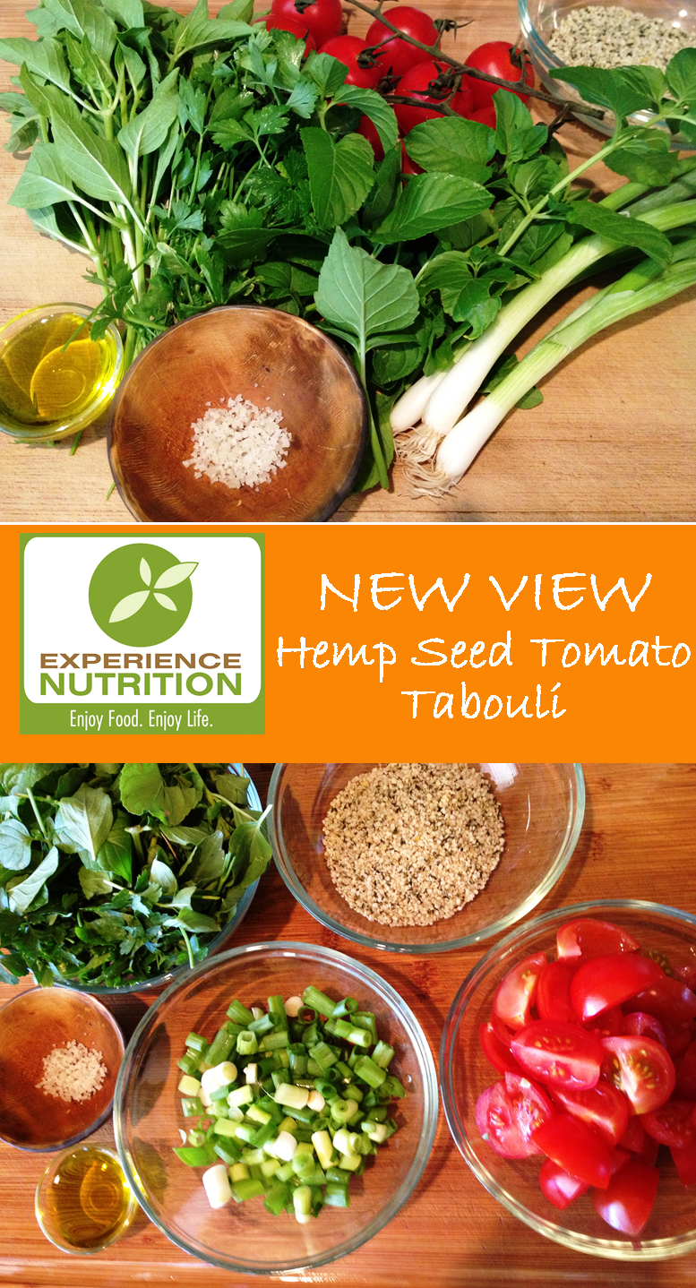 Experience Nutrition: Hemp Seed Tomato Tabouli: Fresh Ingredients