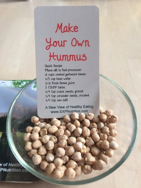 A New View of Healthy Eating: Hummus Recipe