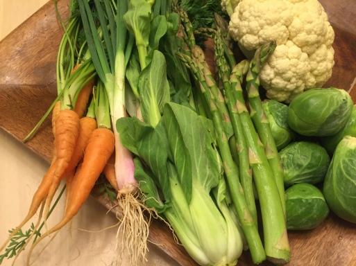 Local in season farm-fresh veggies
